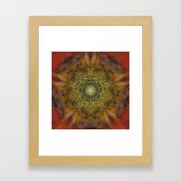 Inner Fire Digital kaleidoscope Art  Framed Art Print