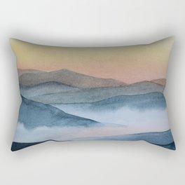 mist in the mountains Rectangular Pillow