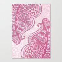 henna Canvas Prints featuring Henna Pattern by ItsJessica