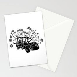 Break Free - Car With Tree Growing In It Illustration Stationery Cards