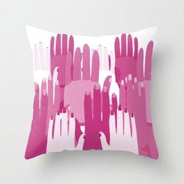 Feminist Hands Throw Pillow