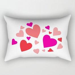 Hearts Composition II Rectangular Pillow