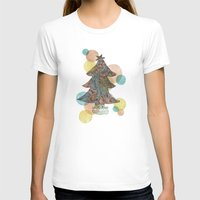 christmas tree T-shirts featuring Christmas Tree by sinonelineman