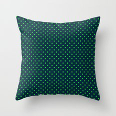 Mini Navy and Neon Lime Green Polka Dots Throw Pillow