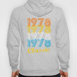 39th Birthday Gift Vintage 1978 T-Shirt for Men & Women T-Shirts and Hoodies Hoody