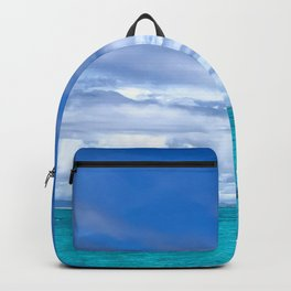 South Pacific Crystal Ocean Dreamscape with Boat Backpack