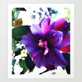 Water Color Camellia Art Print