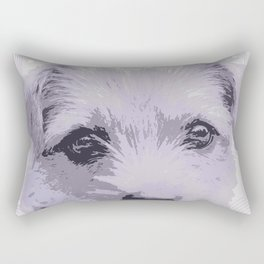 Curious little dog waiting for you - funny dog portrait Rectangular Pillow