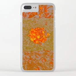 Autumn Flame Clear iPhone Case
