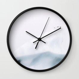 Birds on an Iceberg in Iceland– Monochrome Minimalism  Wall Clock