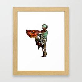 Brick Fan Framed Art Print