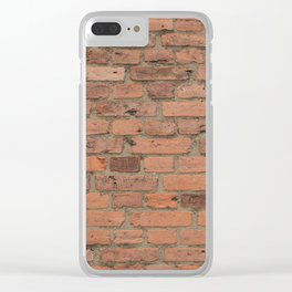 Stone Brick Wall Clear iPhone Case