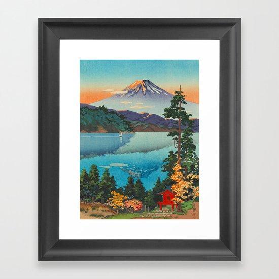 Tsuchiya Koitsu Vintage Japanese Woodblock Print Fall Autumn Mount Fuji by enshape
