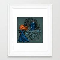 hallion Framed Art Prints featuring Follow Your fate by Karen Hallion Illustrations