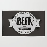beer Area & Throw Rugs featuring Beer by Juliana Rojas | Puchu