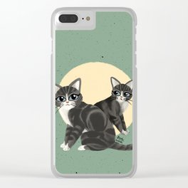 Lovely kitties Clear iPhone Case