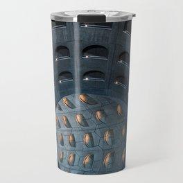 BLACK METAL ROUND CEILING FRAME Travel Mug