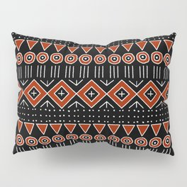 Mudcloth Style 2 in Black and Red Pillow Sham