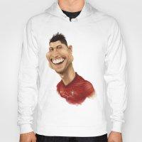 ronaldo Hoodies featuring C. Ronaldo - Portugal by Sant Toscanni