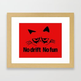 No drift No fun v5 HQvector Framed Art Print