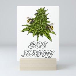 Bee Happy Mini Art Print