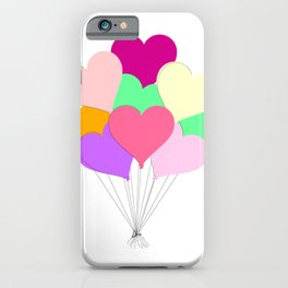 Balloon Bouquet for Valentines Day iPhone Case