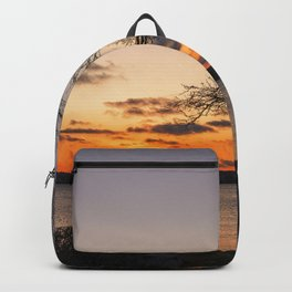 Tree silhouette at sunset Backpack