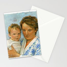 mother and child 2 Stationery Cards
