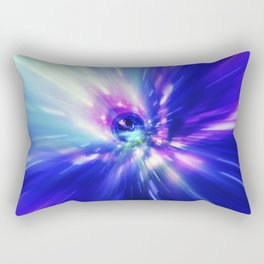Interstellar, time travel and hyper jump in space. Flying through wormhole tunnel or abstract energy Rectangular Pillow