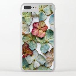 Hydrangea Petals no. 1 Clear iPhone Case