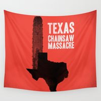gore Wall Tapestries featuring Texas Chainsaw Massacre by Wharton