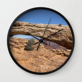 Clear Day at Mesa Arch - Canyonlands National Park Wall Clock