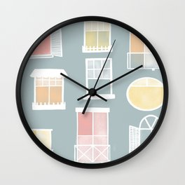 Many nice windows Wall Clock
