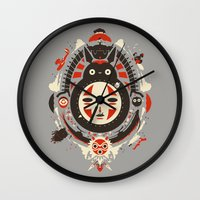 anime Wall Clocks featuring A New Wind by Danny Haas