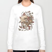 coyote Long Sleeve T-shirts featuring Coyote Love Letters by Jessica Roux