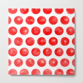 Red Spots Metal Print