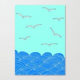 Ocean Air Drawing Print by Emma Freeman Designs Canvas Print