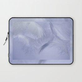 White fluffy feathers blue tone Laptop Sleeve