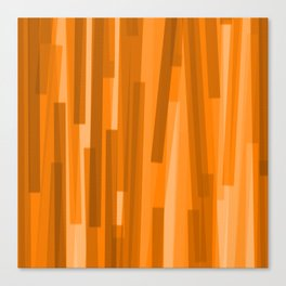 Geometric Brown Gold Painting Canvas Print