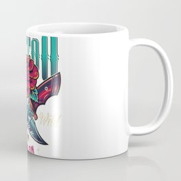 Vintage Tattoo Studio Colorful Logo Coffee Mug