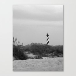 Hatteras Black & White Canvas Print