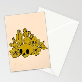 Skull and Cactus Stationery Cards