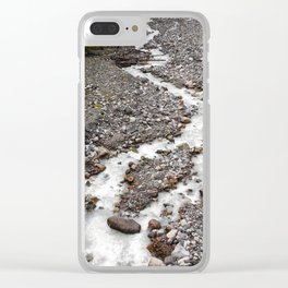 The birth of Nisqually river Clear iPhone Case