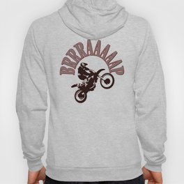 Brrraaaaap Red Checkered Flag Moto Language Hoody