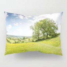 Idyllic Cotswold Summer Landscape Pillow Sham