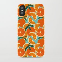 Orange Harvest - Blue iPhone Case