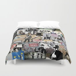 Banksy Collage Duvet Cover
