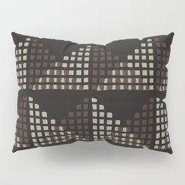 Layered Geometric Block Print in Chocolate Pillow Sham