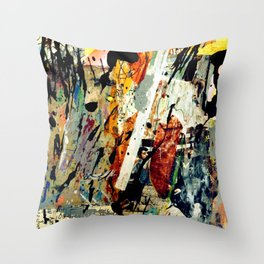 Bull Horns and Bull Headed Men Throw Pillow