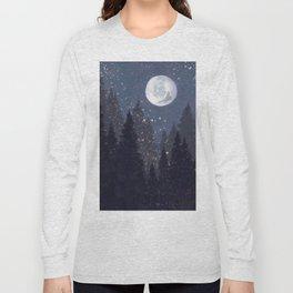 Full Moon Landscape Long Sleeve T-shirt